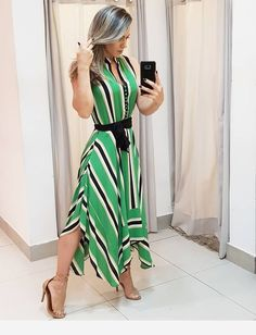 Best 11 Long dress and shoes Modest Dresses, Nice Dresses, Short Dresses, Summer Dresses, Love Fashion, Plus Size Fashion, Moda Outfits, Maxi Dress With Slit, Elegant Outfit