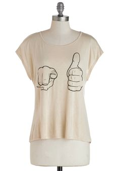 Court Gesture Top. Hey, you! #tan #modcloth