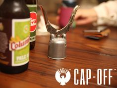 Your American made, hand crafted, small batch beer deserves an opener with all the same qualities; that opener is the Eagle Cap-Off.