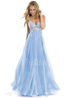 Prom Dresses - $128.00 - A-Line/Princess Sweetheart Floor-Length Chiffon Prom Dress With Appliques Lace (01805023786)