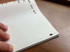 For those who still like to use paper notebooks, here is an easy way to organize content.