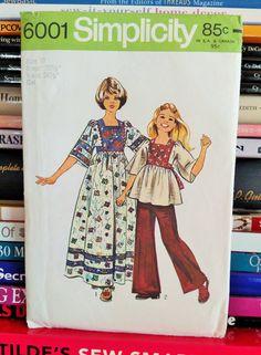 UNCUT 1973 Simplicity Pattern 6001-Girl's' by PaperWardrobesEtc