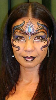 beautiful crown face paint