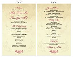 Vintage Scroll Design Classic Wedding Programs   Diy Printable File    Digital File   I Customize You Print As Many As You Want. $12.00, Via Etsy.