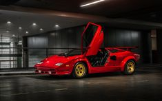 Lamborghini Countach, LP400, 1980, supercar, retro cars, retro sports car, Italian cars, Lamborghini