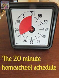 The 20 minute homeschool schedule
