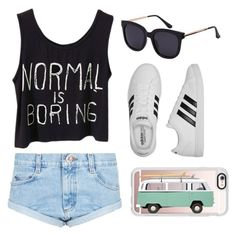 Summer outfit by egloomis on Polyvore featuring polyvore, fashion, style, One Teaspoon, adidas, Casetify and clothing