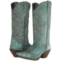 Durango Crush 13 (Marbled Turquoise) Cowboy Boots ($145) ❤ liked on Polyvore featuring shoes, boots, mid-calf boots, vintage cowboy boots, durango boots, western cowboy boots, vintage cowgirl boots and embroidered cowgirl boots