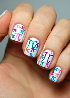 pi day! For the mathematician who likes to have pretty nails.