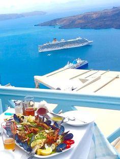 Our favourite restaurant in Santorini - Volcano Blue, Fira Traveller Reviews…