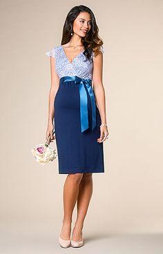 756baa0c555 Rosa Maternity Dress Infinity Blue by Tiffany Rose Blue Maternity Dress
