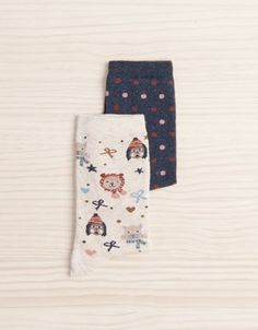 Pack of animal and stripe pattern socks