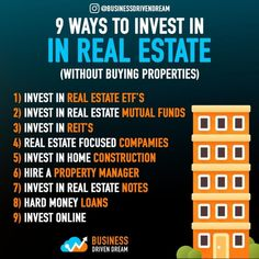 Real Estate Investments – Finance tips for small business Real Estate Business, Business Money, Real Estate Tips, Investing Money, Real Estate Investing, Saving Money, Best Way To Invest, Investment Tips, Business Motivation