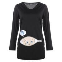 d9b061764b Silly Cartoon Long Sleeve Maternity Tee. Maternity Tees
