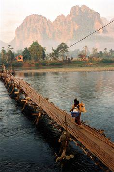 "Social@TripStory — Laos via 500px / Photo ""Bamboo Bridge, Laos"" by..."