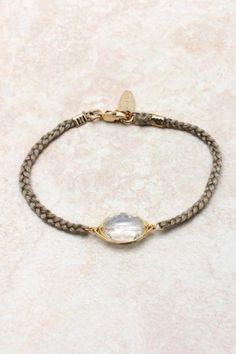 Faceted Stone Bracelet - enter code FLIP4FALL for 20 dollars off