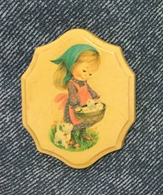 Vintage Girl with Kittens in Basket by ColsonsCollectibles on Etsy