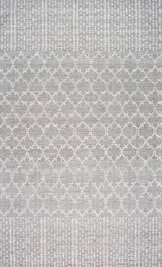 ZavaVZ01 Flatweave Barbed Moroccan Dotted Striped Border Rug