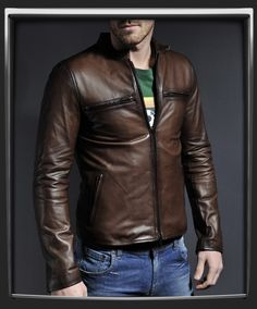 Cafe Racer Leather Jacket - XS - Only £250