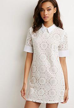 Lace collared dress | theglitterguide.com