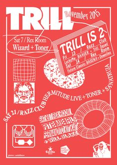 Poster for Trill Nov 2nd anniversary atfc's 2015