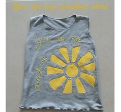 Upcycle Sun shiny tee