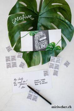 SCHWEIZERISCHE POST WERTVOLLE BOTSCHAFTEN - miriweber.ch - Kreativ - DIY - Food - Familien - Travel Blog aus der Schweiz Diy Blog, Poster, Creative, Fonts, Inspiration, Chalkboard Pictures, Creative Cards, Families, Postage Stamps