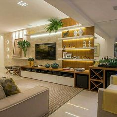 Ideas alternative seating living room home Living Room Tv Unit Designs, Interior Design Living Room, Living Room Decor, Cabinets For Living Room, Modern Interior, Tv Cabinet Design, Tv Wall Design, Salas Home Theater, Tv Wanddekor