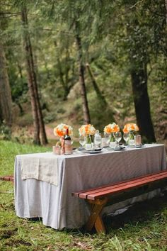 Nice Outdoor Table Settings
