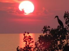 Beautiful sunset on Lake Huron near Bayfield, ON
