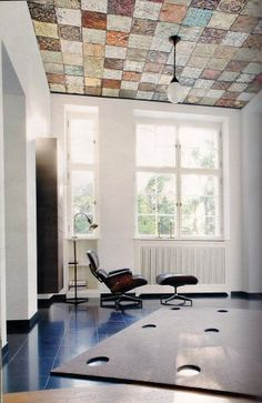 Collected vintage ceiling tins...amazing!