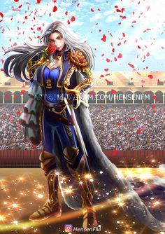 Lancelot Royal Matador Female Genderbend by HensenFM on DeviantArt Miya Mobile Legends, Alucard Mobile Legends, Mobile Legend Wallpaper, Hanabi, Gaming Wallpapers, League Of Legends, Cool Photos, Wonder Woman, Fan Art