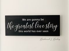 Put your favourite meaningful song lyrics onto a gorgeous wood sign so you can see them everyday! Burlap Bedroom Decor, Song Quotes, Song Lyrics, Customized Gifts, Personalized Gifts, Rustic Decor, Farmhouse Decor, Custom Wood Signs, Handmade Decorations