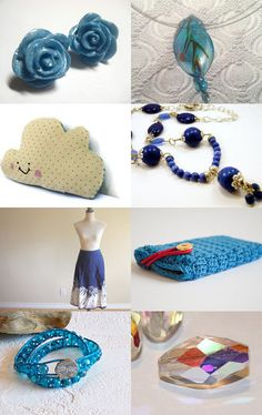 Lots of blue creations--Pinned with TreasuryPin.com
