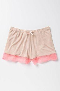 Neon Lace shorts #lingerie #antropologie #ad #spon