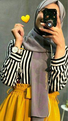 Modern Hijab Fashion, Muslim Women Fashion, Hijab Fashion Inspiration, Abaya Fashion, Modest Fashion, Fashion Outfits, Korean Fashion, Hijab Style Dress, Casual Hijab Outfit