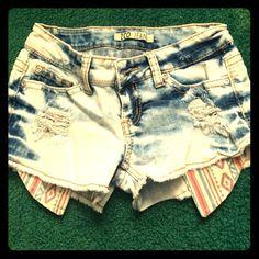 Junior size 1 shorts Faded jean shorts Shorts Jean Shorts