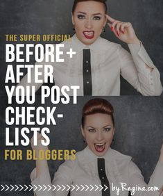 Simple Before + After #Checklists for Your #Blog Posts (and a free download) | By Regina