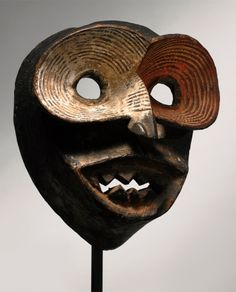 Africa | Mask from Ibibio people of Eastern Nigeria | Wood and pigment - Art Curator & Art Adviser. I am targeting the most exceptional art! See Catalog @ http://www.BusaccaGallery.com
