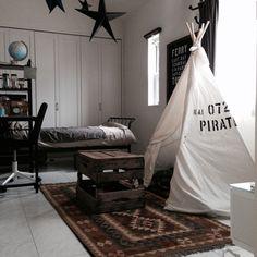 miiさんの、子供部屋。,ティーピーテント♡,部屋全体,のお部屋写真