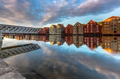 Trondheim, Nidelva, Norway (Europe Trotter / Paris / France) #Canon EOS 5D Mark III #landscape #photo #nature