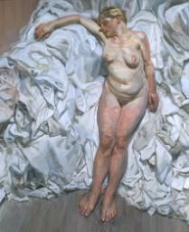 Lucian Freud 'Standing by the Rags', 1988–9 © The Lucian Freud Archive / Bridgeman Images