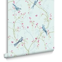 Songbird Duck Egg Wallpaper, , large