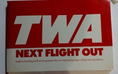 1990 TWA SAME DAY DELIVERY PACKAGE- MUST SEE PHOTOS OF THIS AMAZING PACKAGE SET
