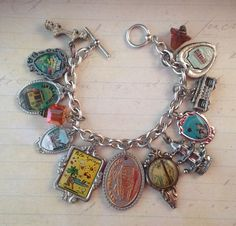 travel spoon charm bracelet...wonder if I should do this with my old travel spoons?
