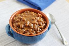 Crock Pot Baked Beans -  ***Use sugar-free syrup in place of molasses to keep it Simply Filling.