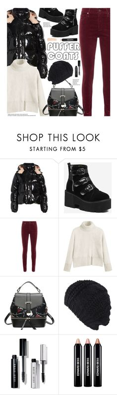 """""""Stay Warm: Puffer Coats"""" by beebeely-look ❤ liked on Polyvore featuring Moncler, Alexander Wang, Bobbi Brown Cosmetics, Edward Bess, La Mer, StreetStyle, Winter, streetwear, puffercoats and gamiss"""