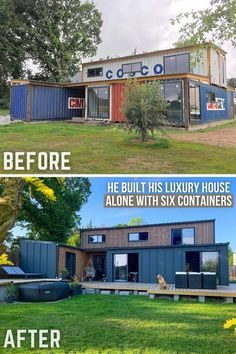 Cargo Container Homes, Shipping Container Home Designs, Storage Container Homes, Building A Container Home, Container Buildings, Container Architecture, Container House Design, Tiny House Design, Shipping Containers
