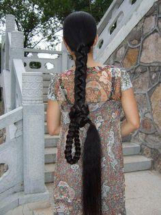 WOW !! Beautiful Braids, Gorgeous Hair, Plaited Ponytail, Really Short Hair, Long Black Hair, Braids For Long Hair, Plaits, Dream Hair, Love Hair