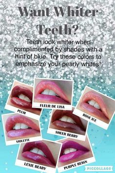 LipSense White Teeth! #lipsense #lips #teeth #thiskiss https://www.senegence.com/ThisKiss
